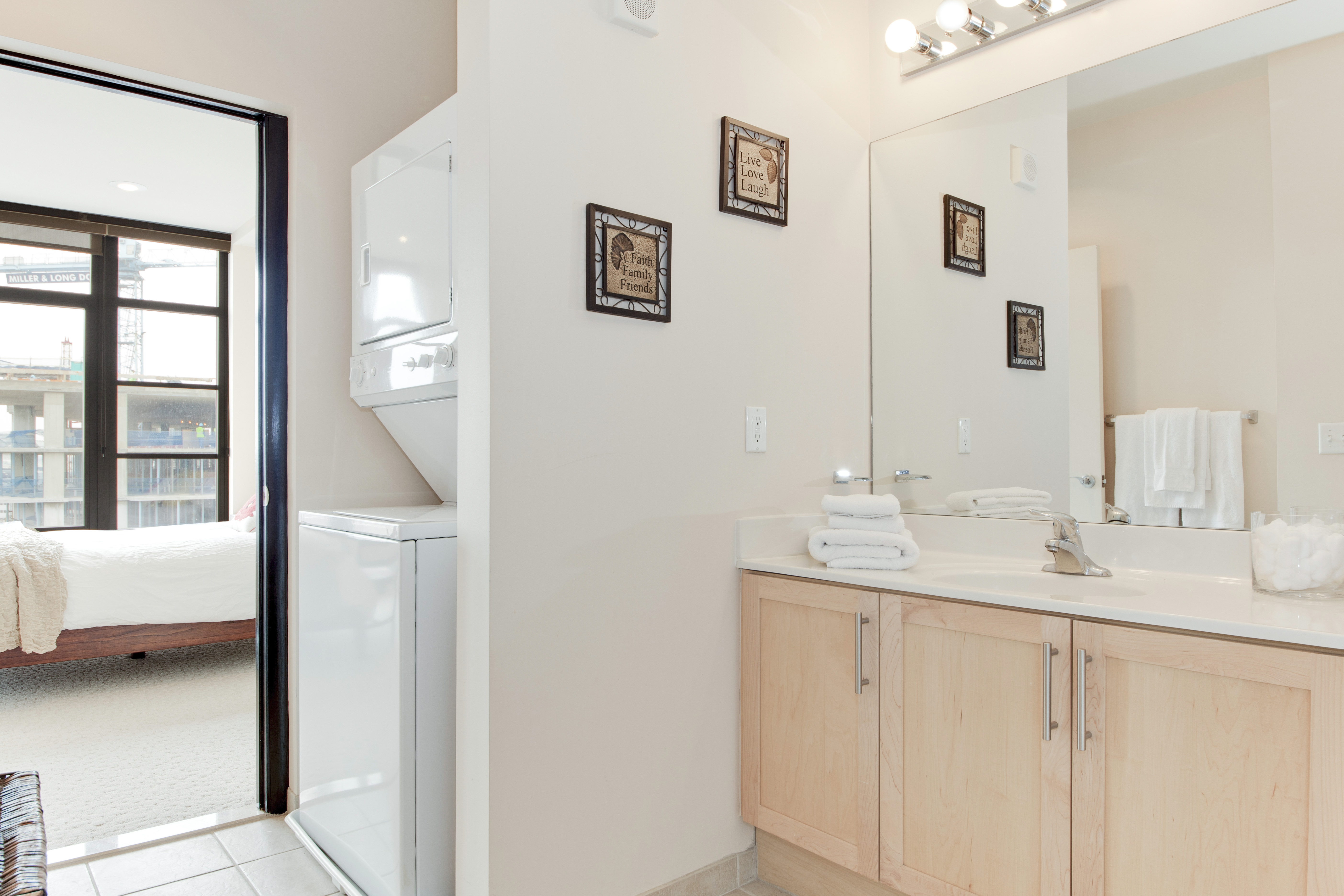 Second full bathroom with laundry