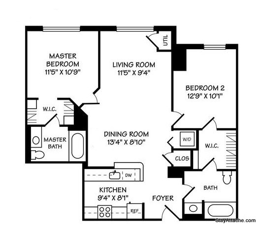 Furnished 2 bedroom in DC