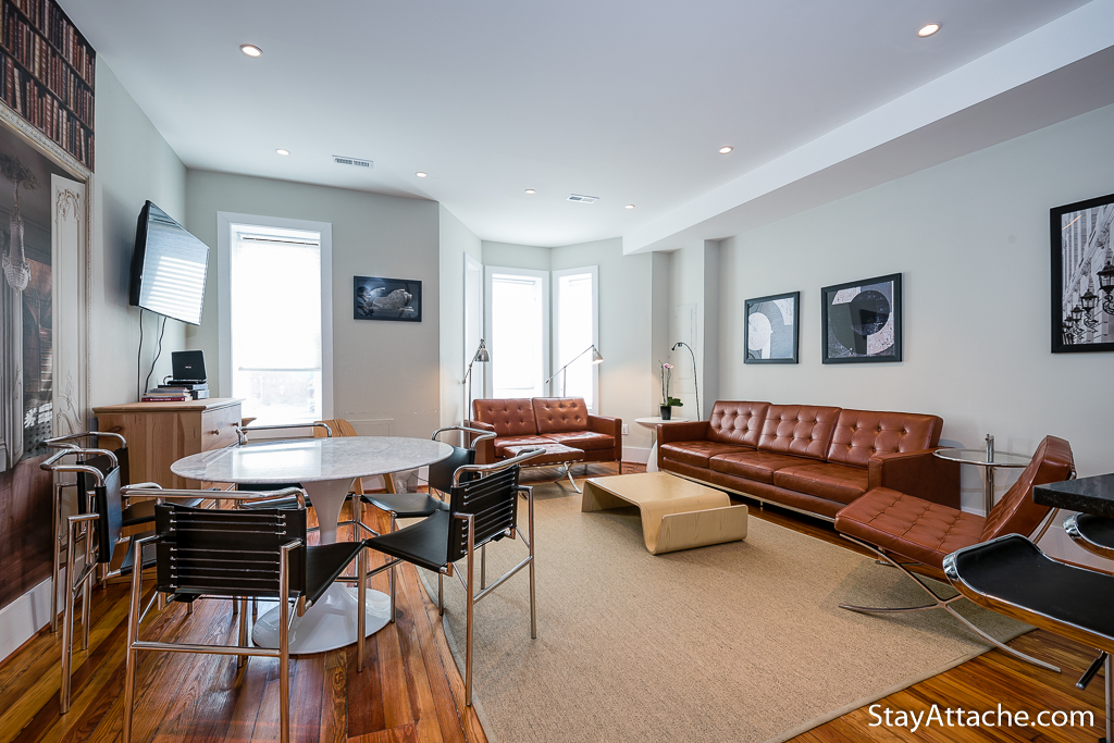Attache Corporate Housing Furnished 3 bedroom - Living Room