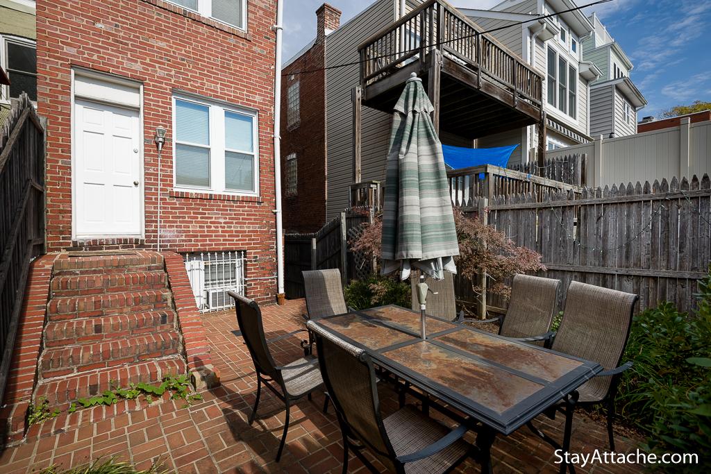 Shared yard for furnished rental